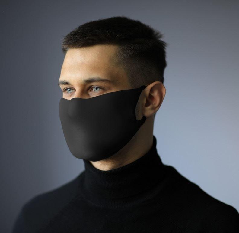 Masque réutilisable avec espace filtrant et ions argent