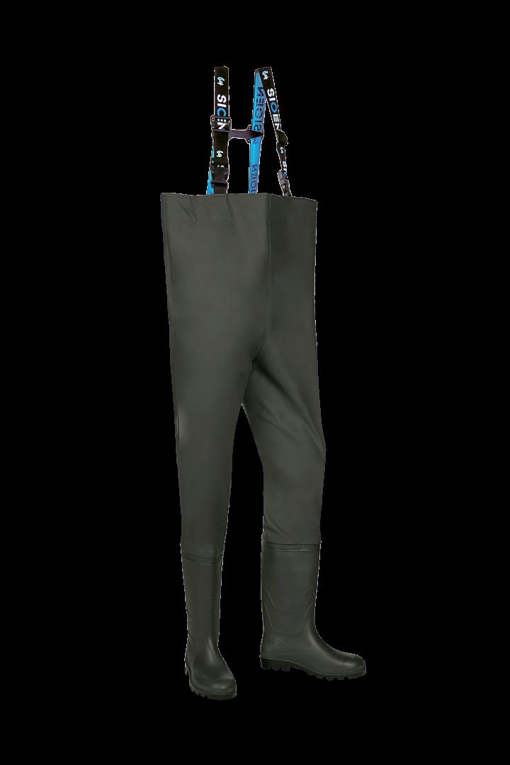 Pantalon pecheur+ bottes sans sécurité