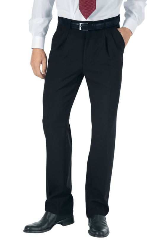Pantalon homme 100% polyester, à pince