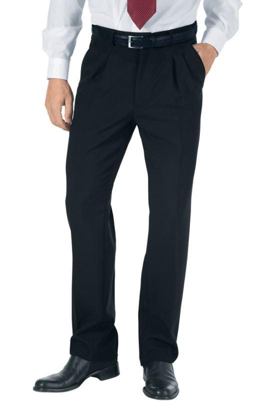 Pantalon homme 100% polyester, léger, à pince