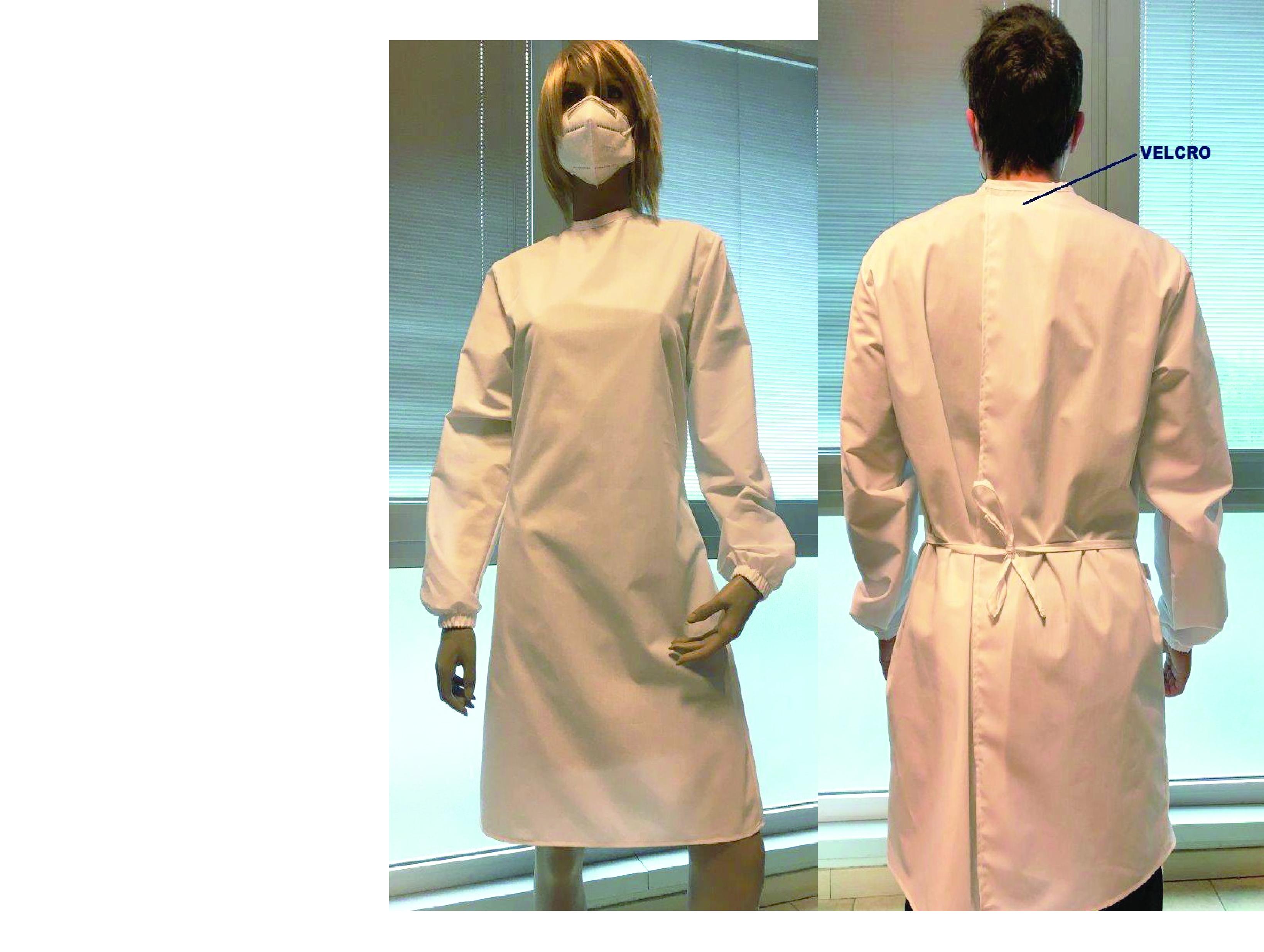 blouse médical fermeture dos