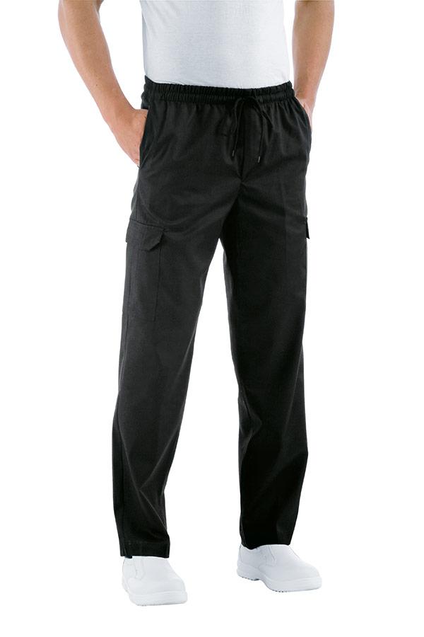 pantalon de cuisine taille élastique