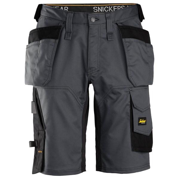 Snickers 6151 - Short de travail à la coupe large en tissu extensible avec poches holster