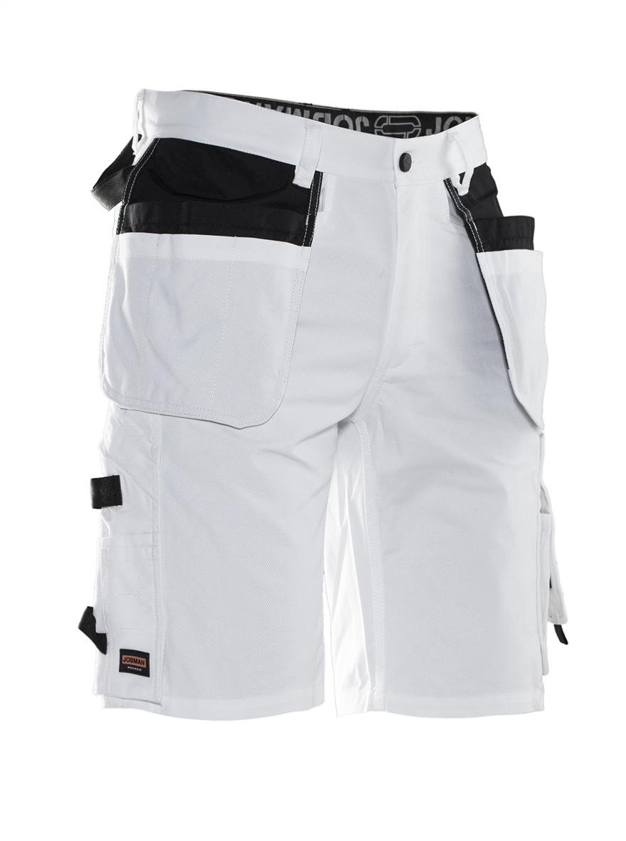 2132 Short de peintre C44 blanc/noir