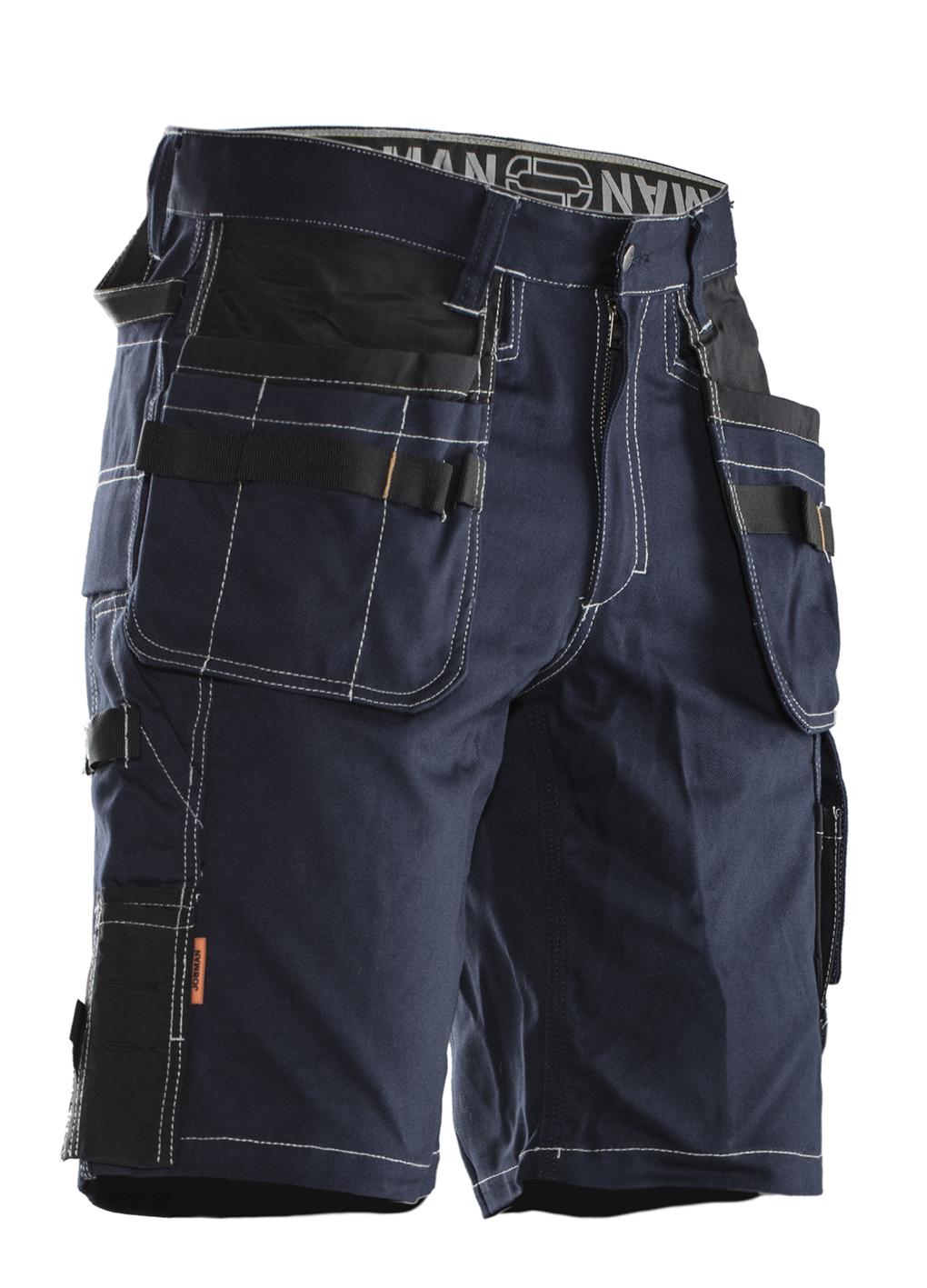 2733 Short d'artisan Coton C44 bleu marine/noir