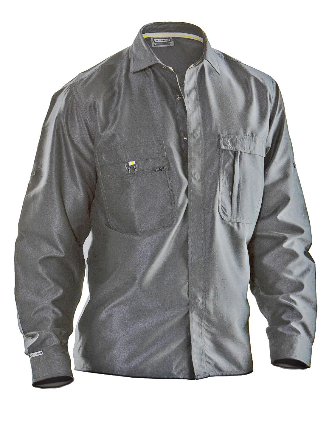 5601 Chemise Coton 3XL gris