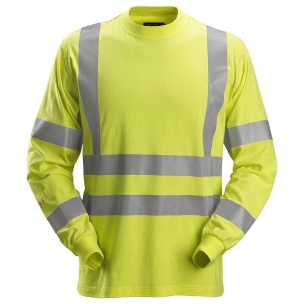 Snickers 2461 - PW T-shirt à manches longues, haute-visibilité, Classe 3