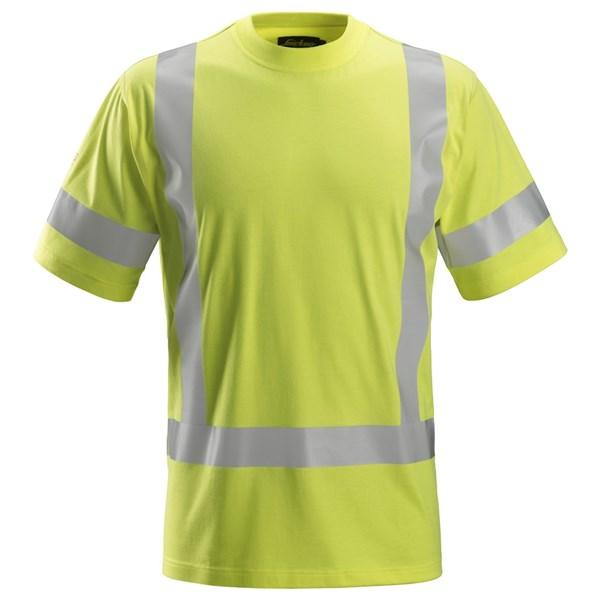 Snickers 2562 - PW T-shirt à manches courtes, haute visibilité, Classe 3