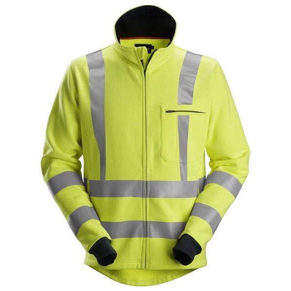 Snickers 2864 - PW Sweat-shirt à fermeture à glissière pleine longueur, haute visibilité, Classe 3