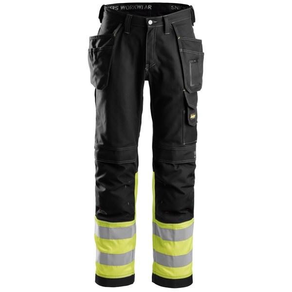 Snickers 3235 - Pantalon en coton haute visibilité avec poches holster, Classe 1