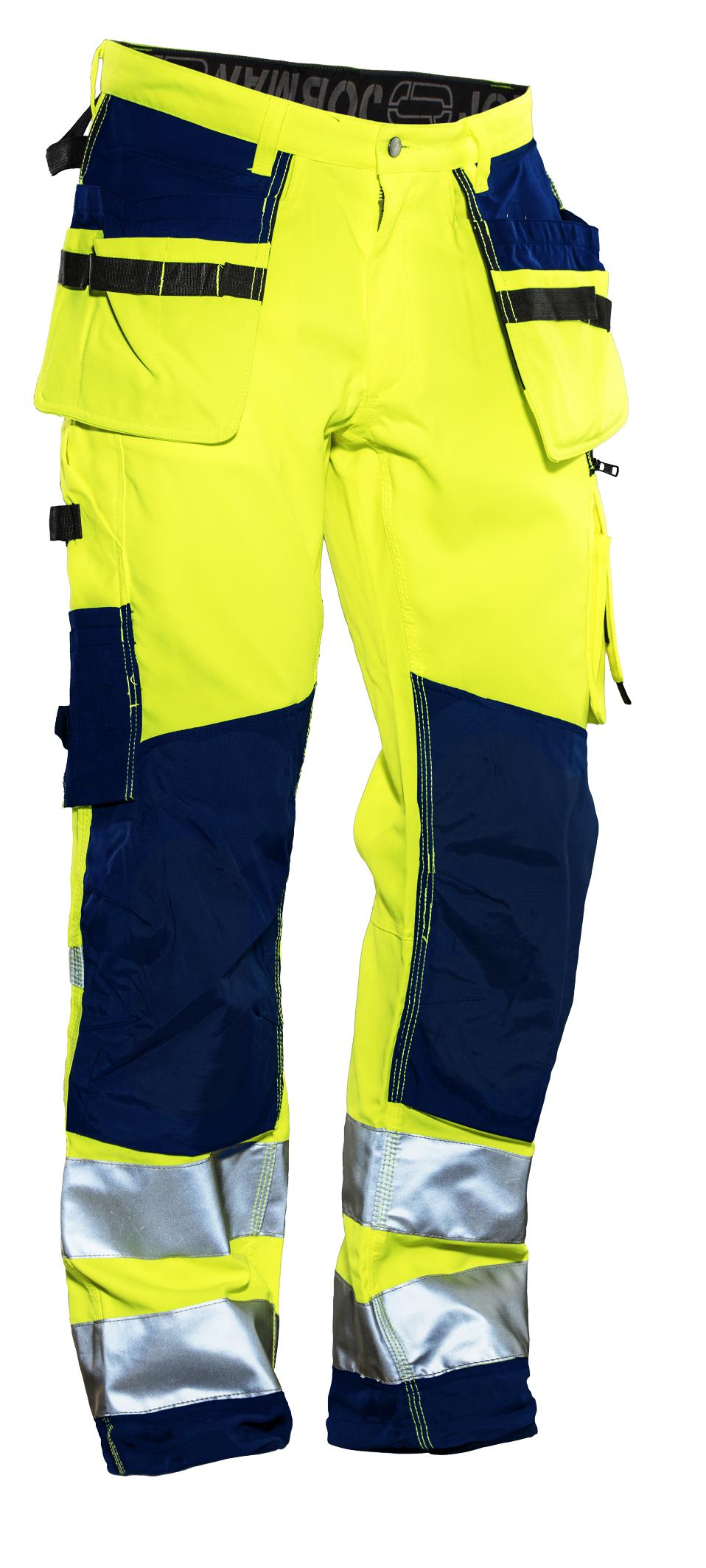 2222 Pantalon d'artisan Star HI-VIS C146 jaune/bleu marine