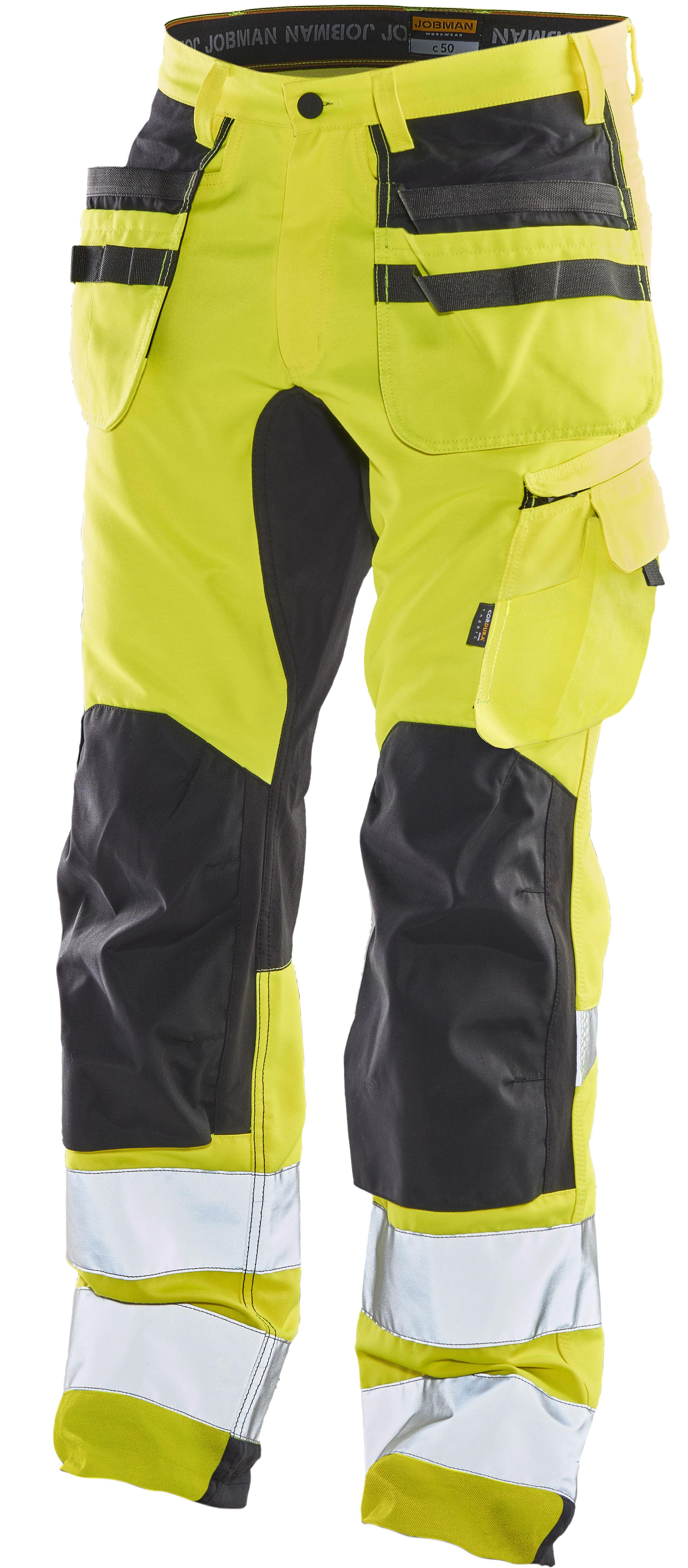 2240 Pantalon d'artisan stretch Hi-Vis C146 jaune/noir