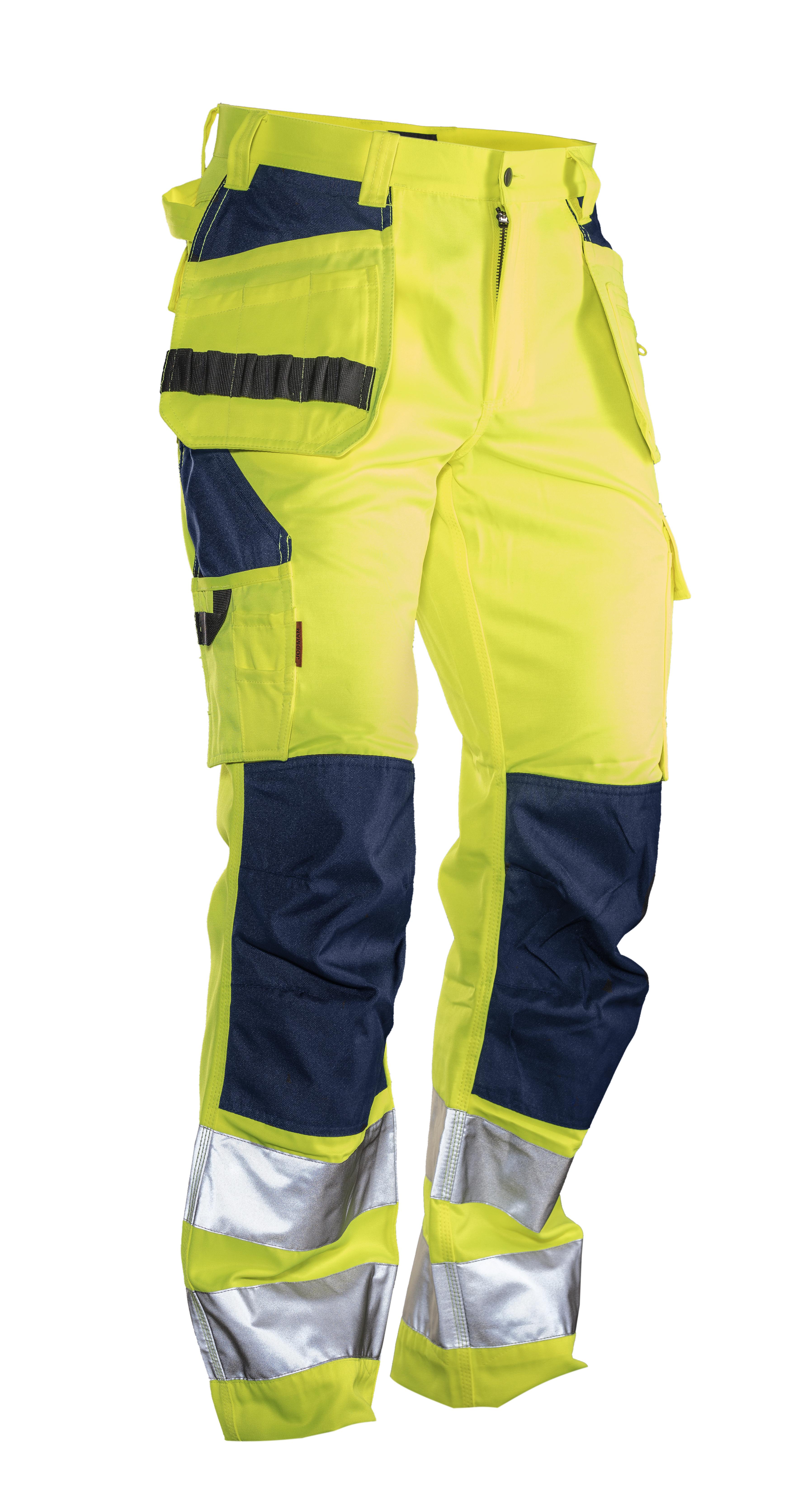 2377 PANTALON D'ARTISAN HI-VIS C42 jaune/bleu marine