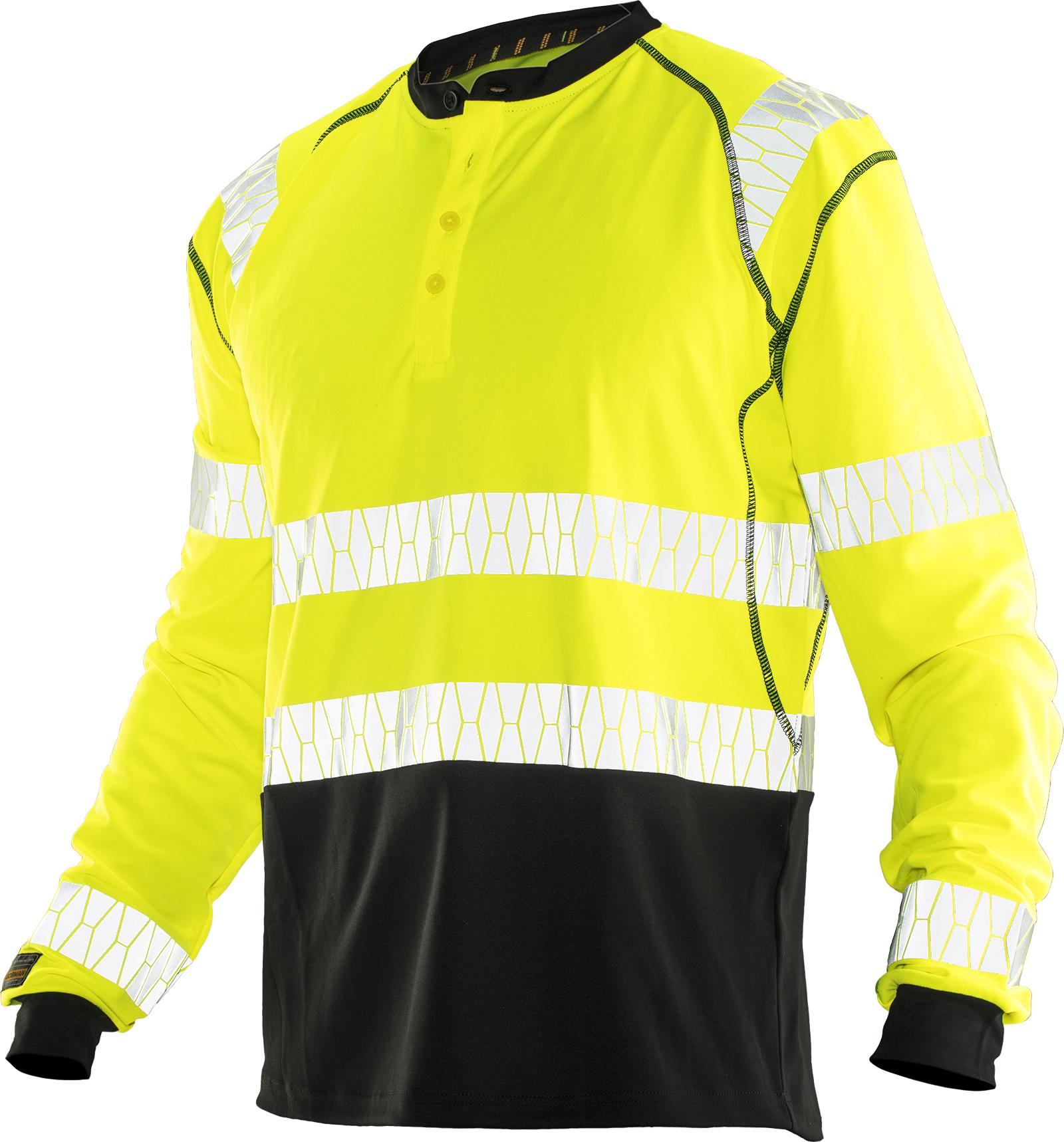 5598 T-shirt manches longues anti-UV Hi-Vis 3XL jaune/noir
