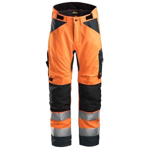 Snickers 6639 - AllroundWork Pantalon d'hiver 37.5 haute visibilité, Classe 2
