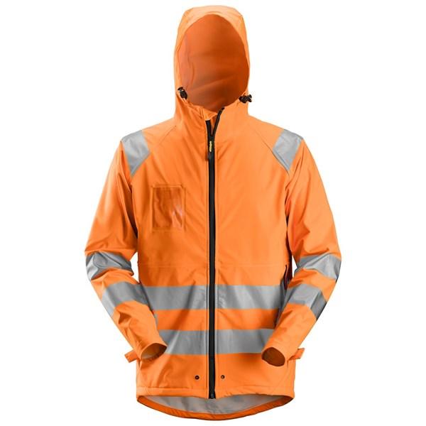 Snickers 8233 - Veste de pluie PU haute visibilité, Classe 3