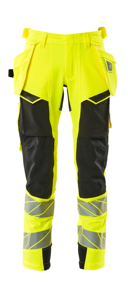 Pantalon Stretch, Haute visibilité, poches flottantes
