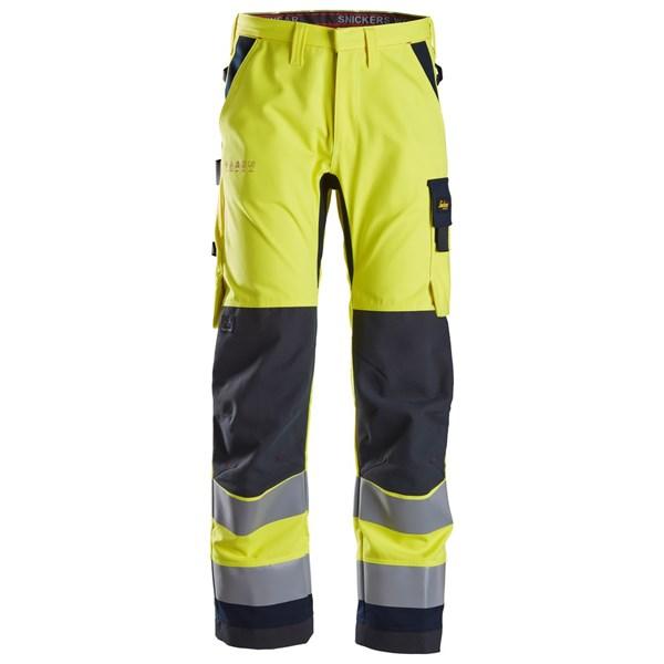 Snickers 6360 - PW pantalon de travail, haute visibilité, Classe 2