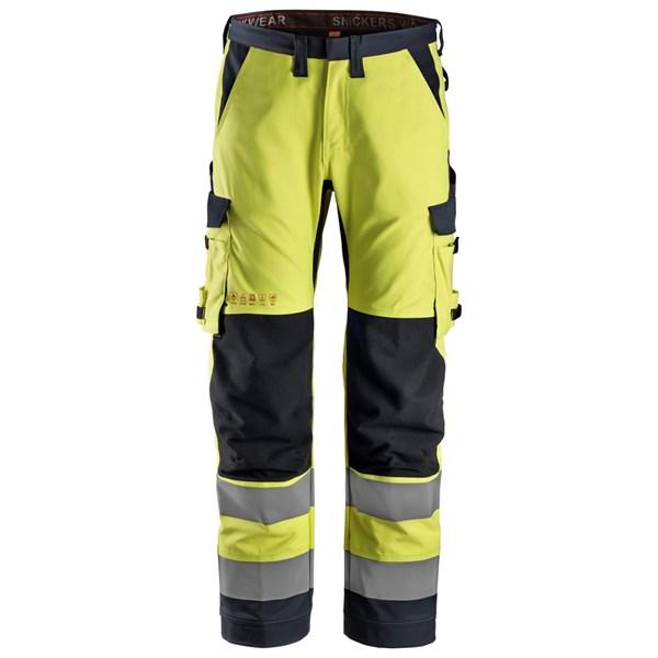Snickers 6361 - PW Pantalon de travail, coupe régulière, haute visibilité, Classe 2