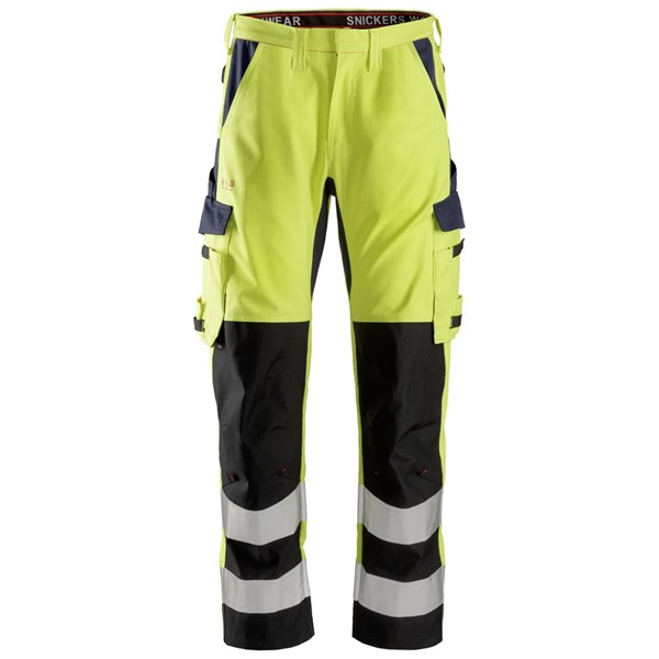 Snickers 6364 - PW Pantalon avec renforts sur les tibias, haute visibilité, Classe 2