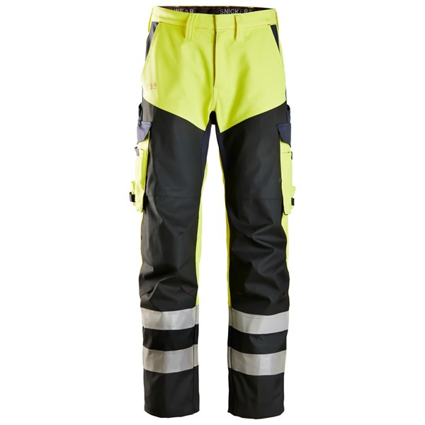 Snickers 6365 - PW Pantalon avec au-dessus de cuisses renforcé, haute visibilité, Classe 1
