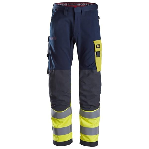 Snickers 6376 - PW pantalon de travail, haute visibilité, Classe 1