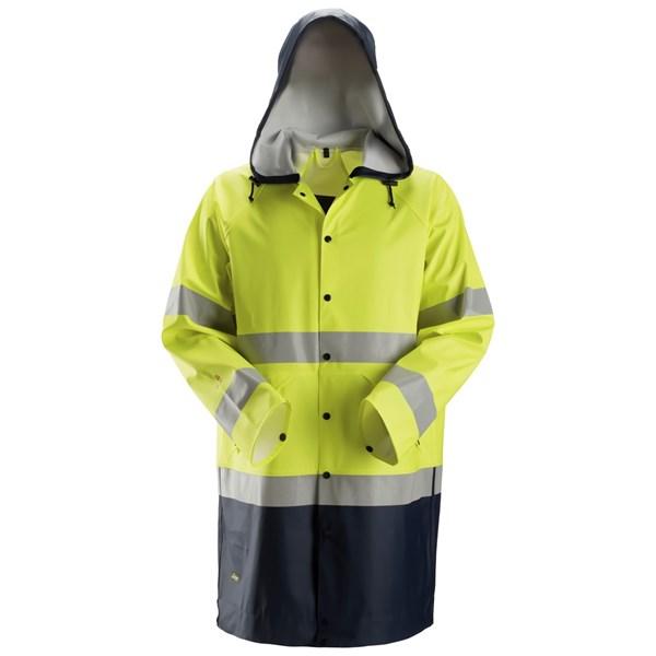 Snickers 8261 - PW Veste de pluie en PU, Haute visibilité de classe 3