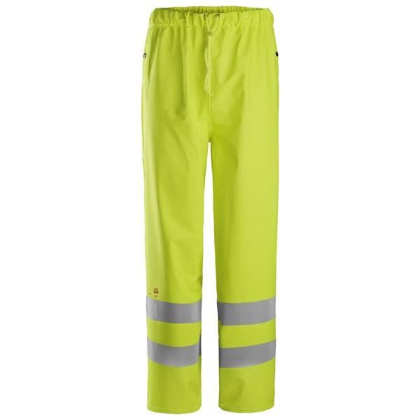 Snickers 8267 - PW Pantalon de pluie en PU, classe 2, haute visibilité