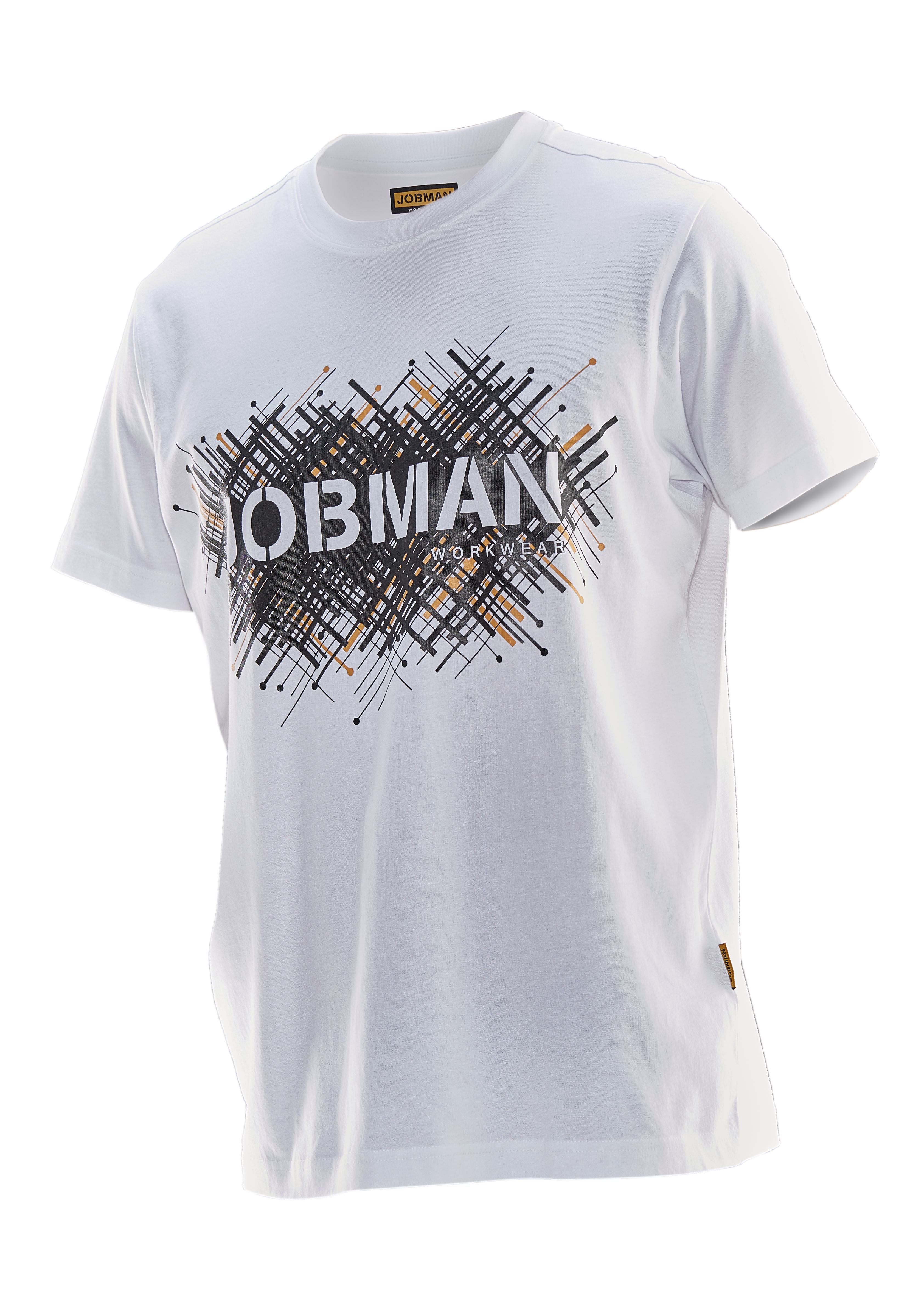 5267 T-shirt imprimé Spike 3XL blanc/noir