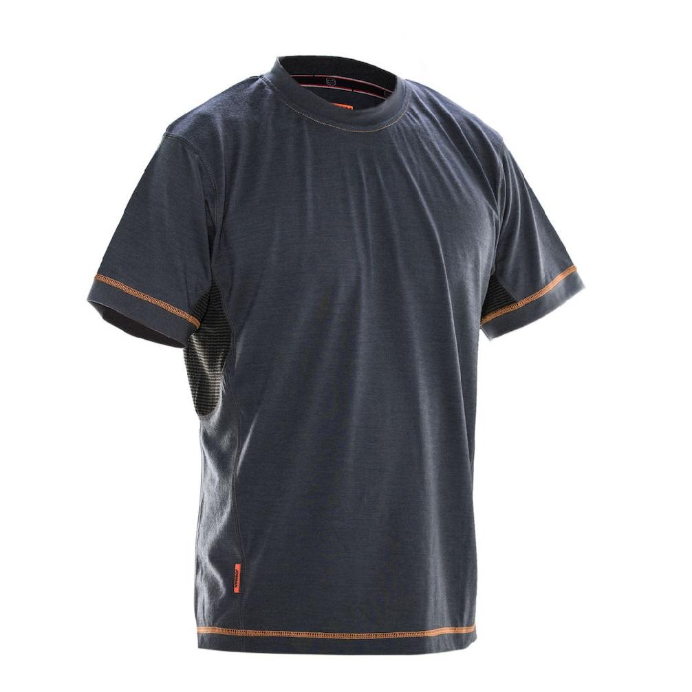 5595 T-shirt Dry-tech™ en laine mérinos 3XL gris foncé/noir