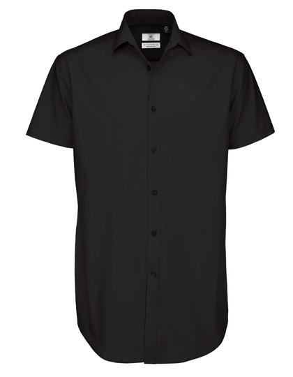 chemise manches courtes popeline